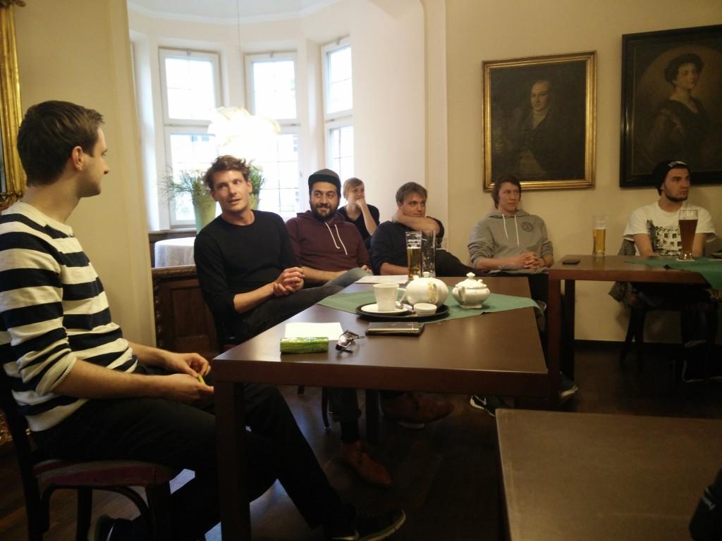 Florian Heiß in der Debatte mit den Chefs von Bonanza